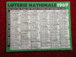 Loterie Nationale 1969 - Calendriers