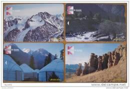 FIRST (!) Phonecards From KYRGYZSTAN Kirgisistan Kirghizistan Magnetic, ALCATEL, Mint! Landscape Paysage Landschaft - Kirgisistan