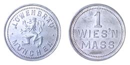 01952 GETTONE TOKEN JETON VENDING BIRRA BIER LOWENBRAU MUNCHEN 1 WIES'N MASS ALU - Allemagne