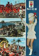 Nice Belle Multi-vues Le Carnaval La Promenade Des Anglais Bataille De Fleurs Majorettes - Carnevale