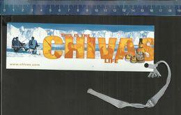 CHIVAS ( WHISKY )  BOEKENLEGGER BLADWIJZER MARQUE-PAGES - Marque-Pages