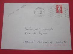 Lettre Aff Avec FAUX De MARSEILLE 30-11-1990 Marseille 15 Marianne Du Bicentenaire N°2614d Dentelé Curiosité Marcophilie - Abarten Und Kuriositäten