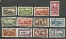 SYRIE N° 167 à 178  COMPLETE NEUF*  CHARNIERE TB / MH - Syria (1919-1945)