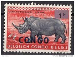 485 Congo Democratic Republic Rinoceronte Ceratotherium Simun Nuovo - Rhinozerosse