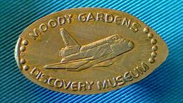 04553 GETTONE TOKEN JETON ELONGATED ADVERTISING MOODY GARDENS DISCOVERY MUESEUM GALVESTON TEXAS - Elongated Coins