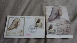 FRANCE CEF Enveloppe + Carte Maximum 1er Jour LEONARD DE VINCI ISABELLE D'ESTE 1986 - Collection Timbre Poste - FDC