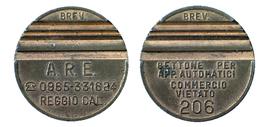 03945 GETTONE TOKEN JETON DISPENSER VENDING MACHINE DISTRIBUZIONE AUTOMATICA A.R.E. REGGIO CALABRIA  MOD. 206 - Allemagne