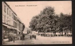 DD2304 FRANCE SAINTE MENEHOULD PROMENADE DU JARD ATTELAGE ANIMEE   POSTCARD - Sainte-Menehould
