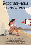 AVRIL François  Ed Cart'Com -  Bande Dessinée  Journal  Libération  Plage -   CPM  10,5x15  TBE 2000  Neuve - Illustrateurs & Photographes