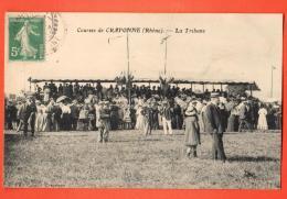 NES-28  Courses De Craponne, La Tribune.  ANIME. Cachet Frontal - France