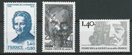 FRANCE 1980 YVERT 2097**2098**-2100** CAT VAL 3 EUR - France