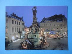 Baden Bei Wien - Austria - Hauptplatz - Colonna Della Trinità - Notturno - Cartolina Promo - Baden Bei Wien