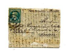 !!! PRIX FIXE : BALLON MONTE LE GEORGES SAND POUR ROUEN, PLI CONFIE - AVEC RESTAURATIONS DU TEXTE, RR - Marcophilie (Lettres)