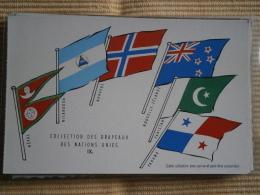 COLLECTION DES DRAPEAUX DES NATIONS UNIES - IX - CPA PUBLICITAIRE UNION DE PHARMACOLOGIE - Histoire