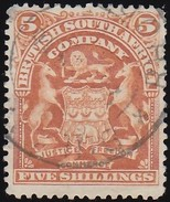 RHODESIA British South Africa Company - Scott #69 Coat Of Arms / Used Stamp - Great Britain (former Colonies & Protectorates)