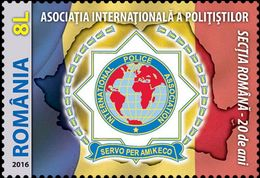ROMANIA 2016 / International Police Association / Set 1 Stamp - Police - Gendarmerie