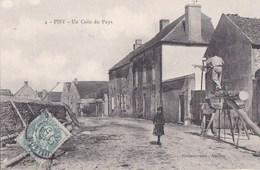 89 PISY   Rue Du VILLAGE Maisons FILLETTE  2 Ouvriers TRAVAIL Du BOIS SCIEURS De LONG - Unclassified