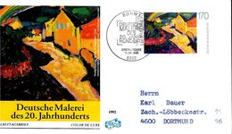 ALLEMAGNE  FDC  1992    Tableaux   Kandinsky - Künste