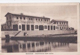 Carte Postale : Massaua ( Eritrea) - Stabilimento Delle Saline         Phot Scozzi Attilio  5-7598  Timbre  1934 Rare - Erythrée