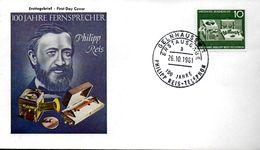 ALLEMAGNE    FDC 1961  Telephone    Philipp Reis - Télécom
