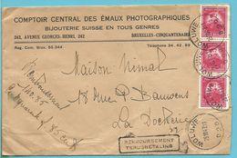 749 (BELGICA-ANTARCTIS) Op Brief Met Stempel WOLUWE , Stempel REMBOURSEMENT / TERUGBETALING - Briefe U. Dokumente
