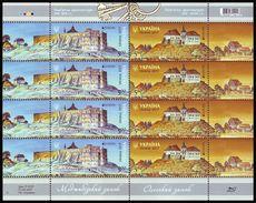 UKRAINE 2017. EUROPA. CASTLES. Mini-sheet Of 4 Sets Mi-Nr. 1612-13. MNH (**) - Ucraina