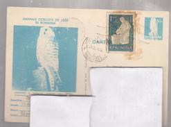 POST CARD  ROUMANIE .1977 BIRD   VINDEREI REDD ,CIRCULATED TULCEA AT CRAIOVA - Enteros Postales