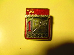 RUSSIA USSR BADMINTON 1st CLASS SPORTSMAN PIN BADGE , 0 - Bádminton
