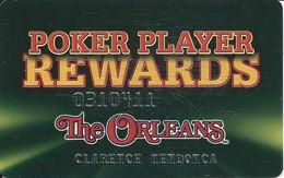 The Orleans Casino - Las Vegas, NV -  Poker Player Rewards Slot Card - Casino Cards
