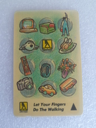 VINTAGE ! Singapore Phonecard -  Yellow Pages , Let Your Fingers Do The Walking (#96) - Phonecards
