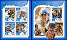 SOLOMON ISLANDS 2017 ** Mother Teresa Mutter Teresa Mere Teresa M/S+S/S - OFFICIAL ISSUE - DH1741 - Mother Teresa
