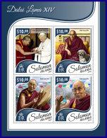 SOLOMON ISLANDS 2017 ** Dalai Lama XIV. M/S - IMPERFORATED - DH1741 - Buddhism
