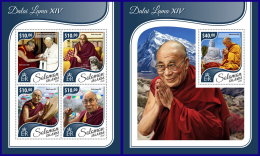 SOLOMON ISLANDS 2017 ** Dalai Lama XIV. M/S+S/S - IMPERFORATED - DH1741 - Buddhism