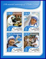 SOLOMON ISLANDS 2017 ** Mother Teresa Mutter Teresa Mere Teresa M/S - IMPERFORATED - DH1741 - Mother Teresa