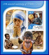 SOLOMON ISLANDS 2017 ** Mother Teresa Mutter Teresa Mere Teresa S/S - IMPERFORATED - DH1741 - Mother Teresa