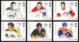 Canada (Scott No.3029-34 - Grands Légendes / Hockey / Great Legends)+ [**] Série / Set / NOTE  Série / Set - 1952-.... Reign Of Elizabeth II