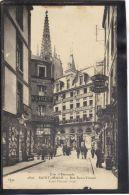 35122 . SAINT MALO . RUE SAINT VINCENT  (recto/verso)  ANIMATION .   COMMERCES . PHARMACIE - Saint Malo