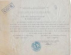 Marine Nationale - Corps Marins Indigènes -brevet élémentaire Mécanicien (copie)  Algérie 1939 - Documents