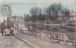 BE17- JOINVILLE LE PONT  DANS LE VAL DE MARNE   QUAI DE LA MARNE ET ILE FANAC      CPA  CIRCULEE - Joinville Le Pont