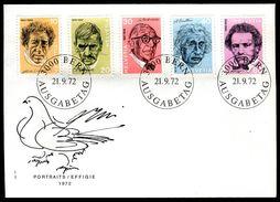 01375d) Schweiz - Michel 979 / 983 - Zumstein-Nummer 511/15 - Porträtmarken III - FDC