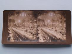BANQUET Hall WALDORF ASTORIA New York City U.S.A. (1250) Stereo Photo : American Stereo Cy ( Voir Photo ) ! - Photos Stéréoscopiques