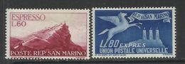 REPUBBLICA DI SAN MARINO 1950 ESPRESSI SPECIAL DELIVERY VEDUTA VIEW SERIE COMPLETA COMPLETE SET MNH - Timbres Express