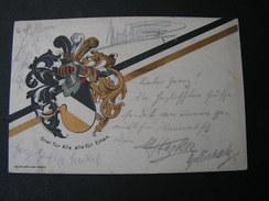 Freiberg Sachsen Studentica, 1916 - Werbepostkarten