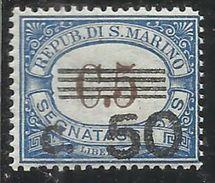 REPUBBLICA DI SAN MARINO 1940 SEGNATASSE POSTAGE DUE TASSE TAXE CENT.50 SU 5 MNH - Segnatasse
