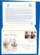 """GRANDE-BRETAGNE- 1981 - FDC Du Mariage Du Prince Of Wales Et De Lady Diana-Spencer -"""" Royal Wedding """" V/scan - FDC"""