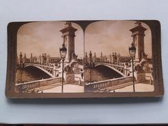 Alexander III Bridge PARIS Exposition 1900 (10271) Stereo Photo : PERFEC - HC White USA ( Voir Photo ) ! - Photos Stéréoscopiques