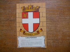 "Héraldique "" Armoiries De Chambéry "" - Chambery"