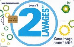 # Carte A Puce Portemonnaie  Lavage BP - Haute Fidélité - 2 Lavages - Tres Bon Etat - - Frankrijk