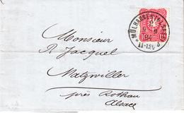 LAC Affr Michel 41 Obl MULHAUSEN (ELSASS) 2 * B Du 9.9.84 Adressée à Natzwiller - Poststempel (Briefe)