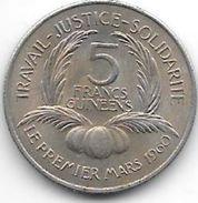 Guinea  5 Franc 1962 Km 5   Xf+ !!!! - Guinea